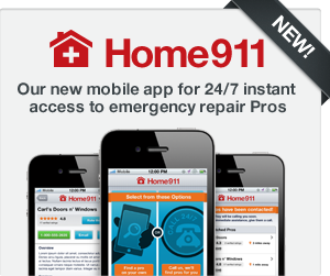 Home911, our new mobile app for 24/7 instant access to emergency repair pros.