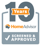 10 Years Screened and Approved Roofing Contractor, Home Advisors Atlanta GA