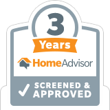 HomeAdvisor Screened and Approved Badge for 3 Years