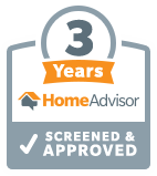 HomeAdvisor Three Years - Screened & Approved