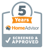 5 Years Screen & Approved by Home Advisor