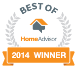 Home Advisors Best of 2014 Award for Roof Replacements in Atlanta GA