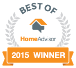 Home Advisors Best of 2015 Award for Roofing Services, Atlanta Georgia