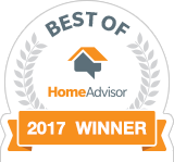 Best Service of 2017 Winner Badge - Best of HomeAdvisor Award