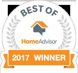 We're a Best of HomeAdvisor 2017 Award Winner!