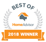 Sweat Cool Air Conditioning and Heating's Home Advisor Rating Badge