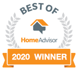 Best of HomeAdvisor - 2020 Winner