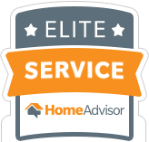 HomeAdvisor Elite Service Award Winner Badge