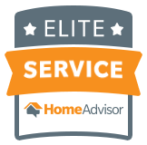 An 'Elite Service' HomeAdvisor badge earned by North East Wildlife Management in Canton, MA