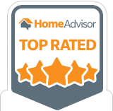 HomeAdvisor Top Rated Service Badge