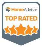 A 'Top Rated' HomeAdvisor badge earned by North East Wildlife Management in Canton, MA