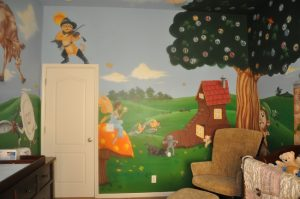 Nursery Rhyme Themed Mural For Kids