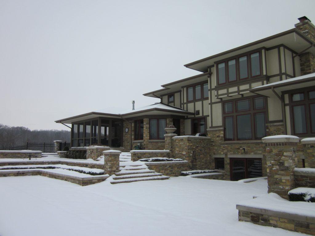 Snowy home exterior