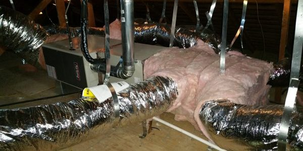 Furnace & A/C unit in attic