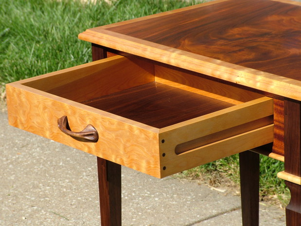 Stained end table