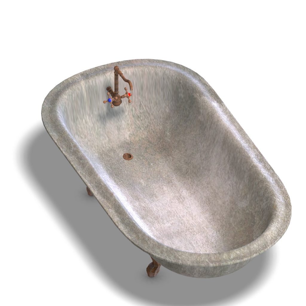 dirty bathtube