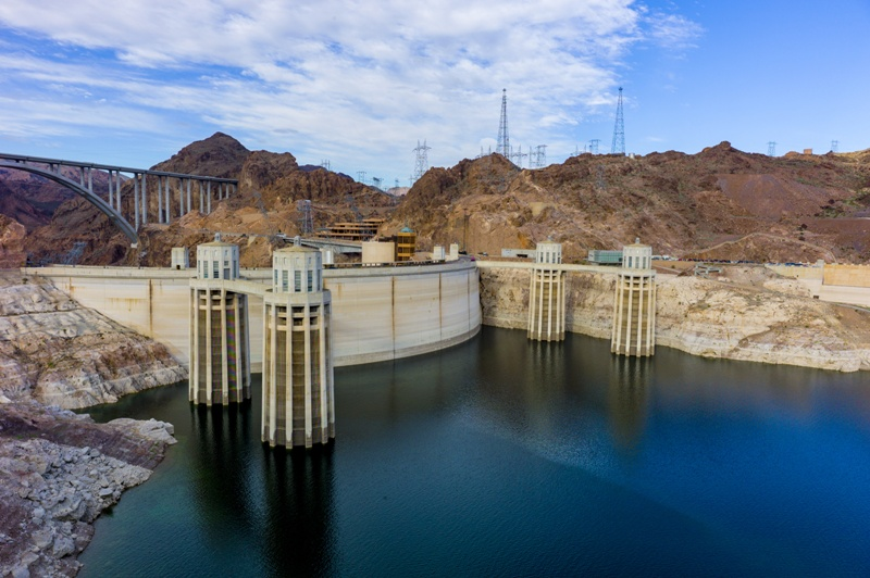 Hoover Dam at the Colorado River.