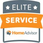 Elite Customer Service Award - HomeAdvisor Contractor Badges