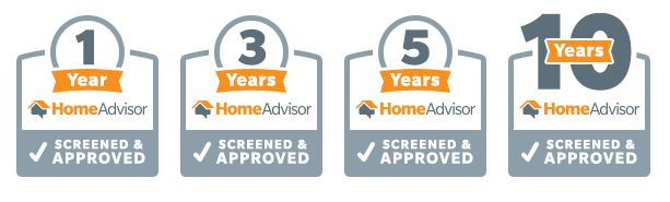HomeAdvisor Longevity Badge - Contractor Awards