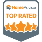 HomeAdvisor Top Rated Contractor Badge