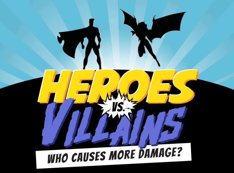 Heroes Vs Villains Who Causes More Damage Homeadvisor