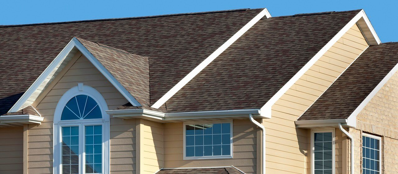 asphalt shingle roof on house