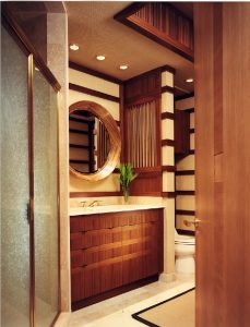 Wooden half bathroom