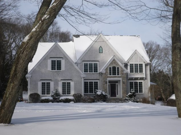 Snow-covered home