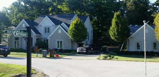 Homey neighborhood suburb
