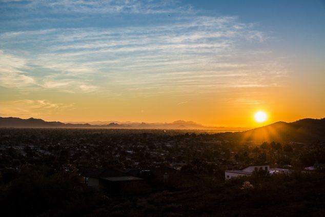 phoenix, az hiking sunset