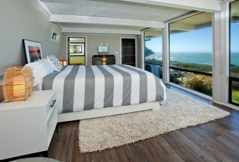 Bedroom with throw rug
