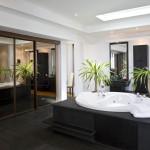 Reflective sliding doors