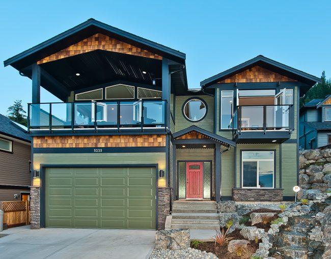 Green home exterior