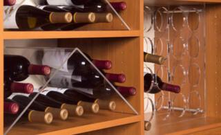 Laminate wine shelf