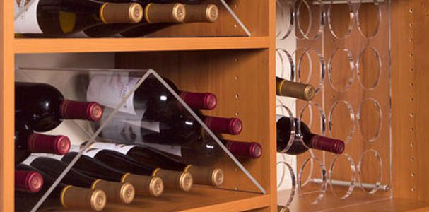 Laminate wine shelf
