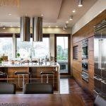 Wood veneer kitchen