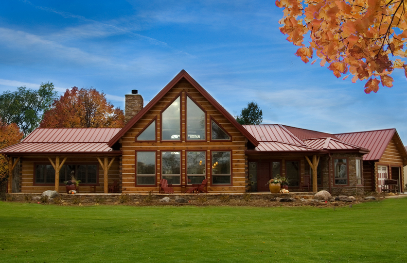 The log cabin a different kind of statement for Log cabin sunroom additions