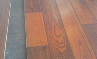 Snap together laminate wood flooring