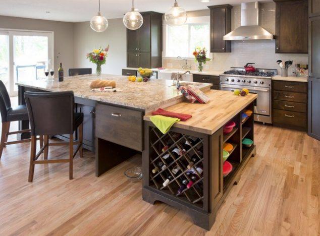 Undercabinet wine storage
