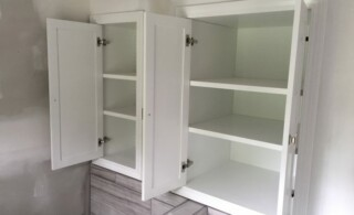 Bath wall cabinets