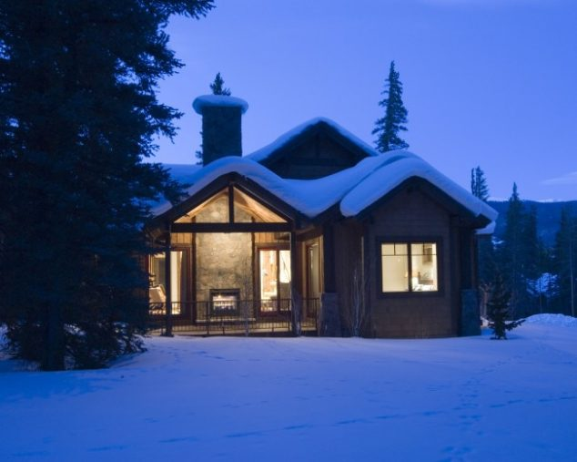 Winter home with fireplace