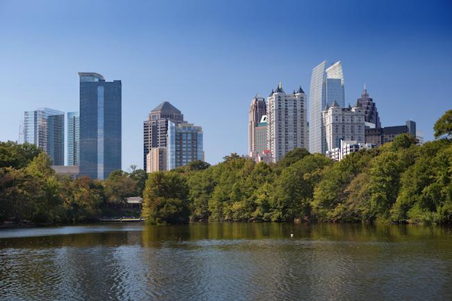 Downtown Atlanta, present day