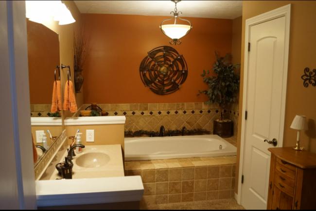 Overhead bathroom lamps