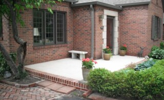 Front concrete patio