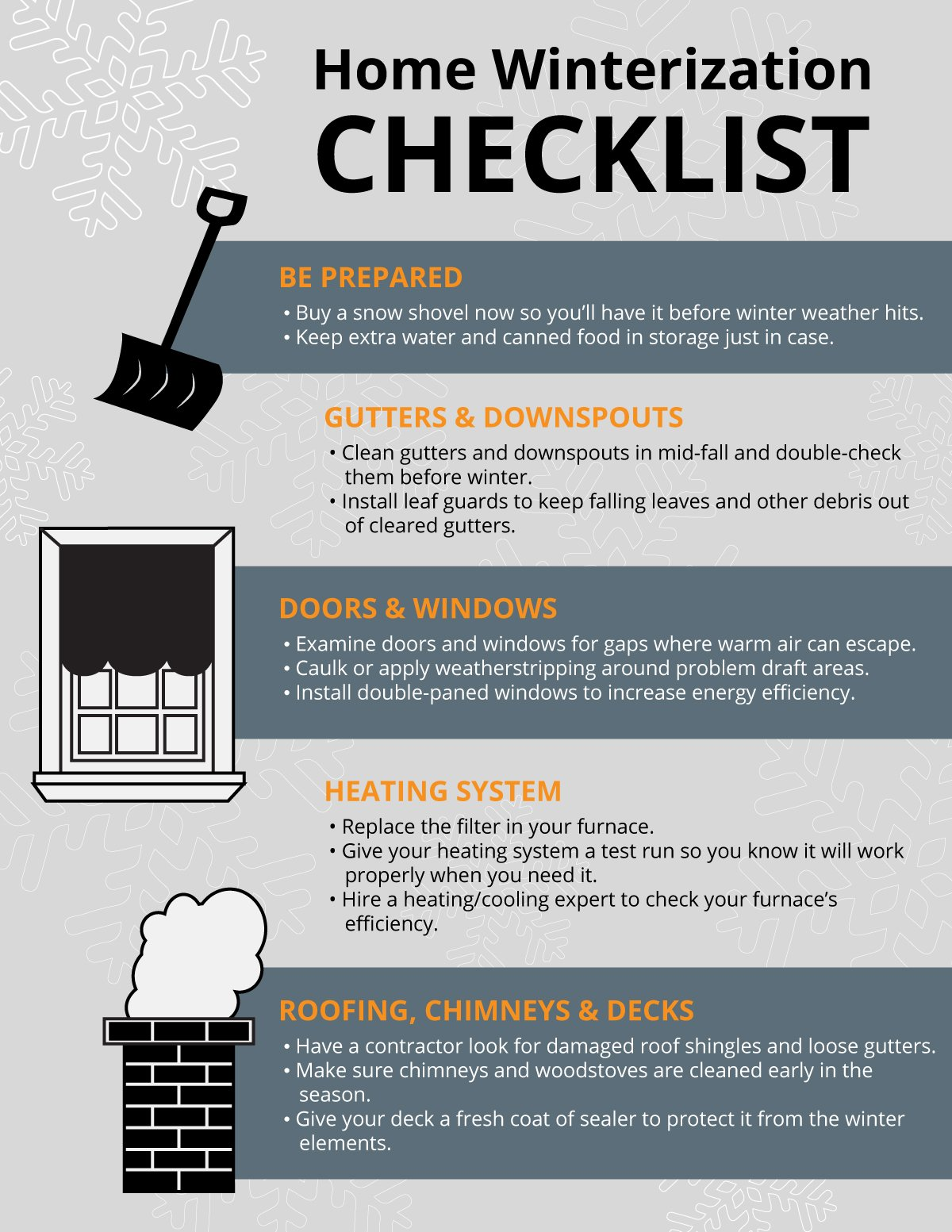 ... New Home Design Center Checklist Winterizing Your Home Checklist  Weatherproofing U0026 More Homeadvisor ...