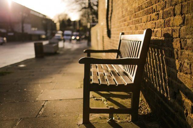 Sidewalk bench