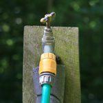 Garden hose & faucet