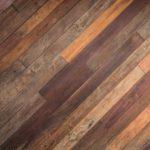 Blended Stain Hardwood Floor Installed Diagonally