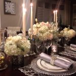 Romantic dining table setup