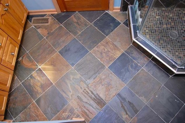 Bathroom floor repair how to 39 s what to consider for Warm feel bathroom floor tiles